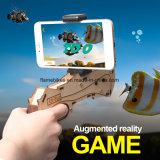 La madera portable AR del sostenedor hace fuego sobre con los juegos de 3D AR