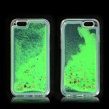 Nueva cubierta líquida hermosa colorida de lujo de la caja del teléfono móvil para el iPhone 6