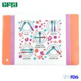Onderlegger voor glazen van Placemat Tablemat van het Stootkussen van het Silicone BPA de Vrije FDA/LFGB Knedende