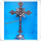 Het in het groot Kruisbeeld van het Metaal van het Metaal Oude Zilveren Gekleurde/Nieuwste Kruisbeeld (iO-Ca003)