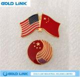 Emblema su ordinazione del distintivo di Pin di metallo di Pin del risvolto della bandierina del regalo di promozione