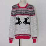 Prenda de Natal de Ladeis 'Sweater em Jacquard Design e Viscose Nylon Quality Soft Handfeel