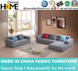 Sofa à la maison plus vendu de tissu de salle de séjour de meubles avec le coin (HC577)
