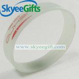 Braccialetto personalizzato del silicone di marchio per la promozione