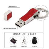 Keychain 가죽 금속 USB 섬광 드라이브 기억 장치 지팡이