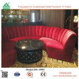 Banco de couro Hot Sale Hotel com almofadas em quarto ou sala de estar