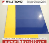 Signage를 위한 4mm 폴리에스테 두 배 측 광택 황색 알루미늄 합성 위원회