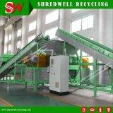 Quarto Duplo ou duas Triturador de eixo para a reciclagem de aparas de metal/Pneus Usados/resíduos Soild/Madeira/Plástico