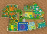 屋内遊園地装置の子供のおもちゃの柔らかい遊び場の運動場セット
