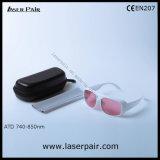 808nm Laser de diodo Óculos & 755nm Alexandrite óculos de segurança de laser com a estrutura 52