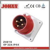 Soquete industrial montado painel de IP44 4p 16A