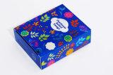 Caja de regalo de papel de embalaje cosmético de impresión colorida con ventana de PVC transparente