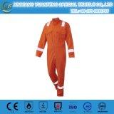 고전적인 안전 작업복 안전 100%년 면 빨간 수도꼭지 기관병 작업복