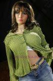 куклы секса силикона груди нового продукта 165/168cm кукла секса силикона реальной большой твердой полная