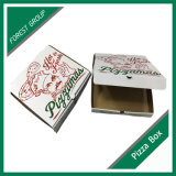 Boîte ondulée faite sur commande bon marché à pizza de catégorie comestible d'impression