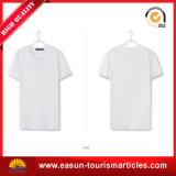 Camisa de manga comprida interna de algodão 100% branco para adultos