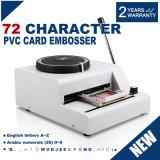 máquina que graba de la máquina de estampación 72-Character de la tarjeta manual del PVC
