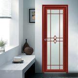 Woodwin 패턴 알루미늄 여닫이 창 문을%s 가진 최신 판매인 두 배 강화 유리