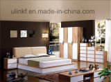 Atacado Antique Wooden Villege Style Bedroom Furniture Beds (HX-LS021)