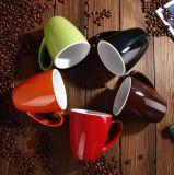 Taza de cerámica simple / Taza de cerámica cuadrada personalizada con esmaltado