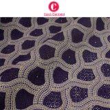 Tessuto svizzero africano 100% del merletto del voile dell'ultimo cotone di disegno