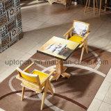 Conjunto de madera de los muebles del restaurante con hermoso impreso en el vector y la silla (SP-CT785)