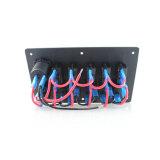 4명의 갱 알루미늄 LED 로커 스위치 위원회를 방수 처리하십시오