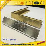 El bastidor de aluminio de extrusión de aluminio para las fotos con el mecanizado