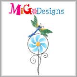 Top Selling Hand-Printing Windmill Garden Parede Decorativa De Metal