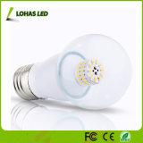 Lumière d'ampoule en aluminium de bougie de Houisng E27 6W DEL d'abat-jour rond
