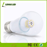 Luz de bulbo de aluminio de la vela de Houisng E27 6W LED de la pantalla redonda