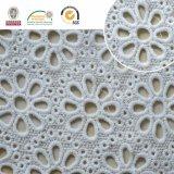 Tecido de renda com forma de coração e padrão de folhas, Design de moda para têxteis domésticos E20040