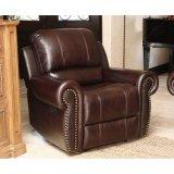 上穀物の革リクライニングチェアのソファー、Loveseatおよび肘掛け椅子セット
