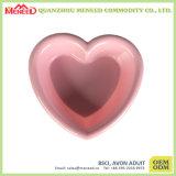 Forma do Coração Rosa e Cor Verde Conjunto de Jantar Bonito