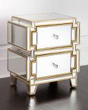 趣味のロビー贅沢なミラーの寝室の家具のベッドサイド・テーブル
