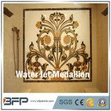 Medaglione caldo della pavimentazione del getto di acqua del marmo del quadrato di vendita per l'ingresso e l'hotel