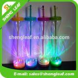 Botella de consumición del jugo de la botella de agua del jugo plástico del LED