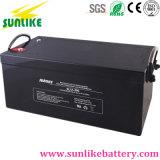 Batería recargable de batería solar de ciclo profundo 12V200Ah para sistema de alarma