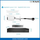 1080P câmara de segurança ao ar livre do IP do rádio HD