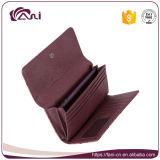 Бумажник женщин элегантности PU кожи страуса конструкции способа кожаный