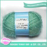 Os tipos de tricotar tubo oco de fantasia cintilante Fios Eyelash