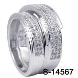Anello d'argento delle coppie dei monili 925 di modo
