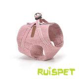 Uitrusting voor de Kleine het Lopen van de Lage Prijs van de Stijl van de Streep van het Puppy Zachte Uitrusting en de Leiband van de Hond