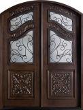 Porta de madeira rústica exterior dobro dos projetos para a HOME (GSP1-039)