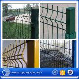 PVCは工場価格の3つのDによって溶接された鋼鉄塀のパネルを塗った