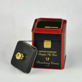 Alta calidad de la plaza de té empaquetado caja de la lata con la manija