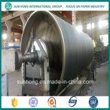 China hizo piezas de la máquina de papel de molde del cilindro del acero inoxidable