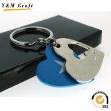 Горячий держатель ключевого кольца металла Cuustomized сбывания продолговатый ключевой