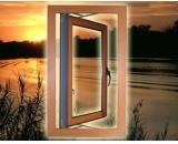 Fenêtre en aluminium à double ou à simple vitre à toit avec lames intégrées et écran de sécurité