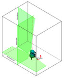 Nivel láser Danpon cruce de cuatro líneas láser verde